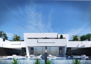 Seaviews frontal con piscina